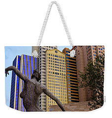 Weekender Tote Bag featuring the photograph Nyny Dance by Glenn DiPaola