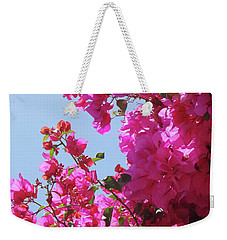 Blissful Fuchsia Weekender Tote Bag by Gem S Visionary