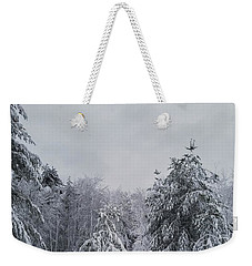Blizzard In New England Weekender Tote Bag