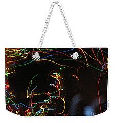 Weekender Tote Bag featuring the photograph Blizzard Of Colorful Lights. Dancing Lights Series by Ausra Huntington nee Paulauskaite