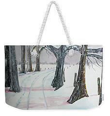 Blizzards Over Weekender Tote Bag