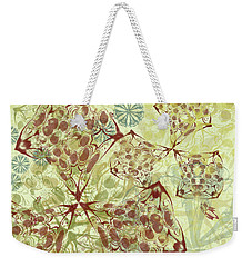 Blob Flower Painting #1 Pale Yellow Weekender Tote Bag