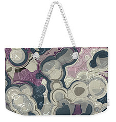 Weekender Tote Bag featuring the digital art Blobs - 01c01 by Variance Collections