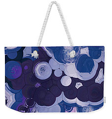 Weekender Tote Bag featuring the digital art Blobs - 11c2b by Variance Collections