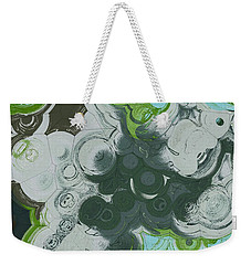Weekender Tote Bag featuring the digital art Blobs - 13c9b by Variance Collections