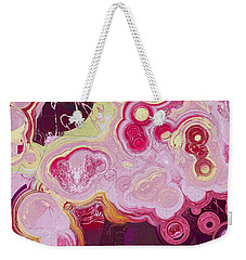 Weekender Tote Bag featuring the digital art Blobs - 15c7b by Variance Collections