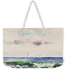 Block Island Sound Weekender Tote Bag