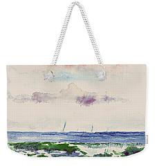 Block Island Sound Weekender Tote Bag by Joan Hartenstein