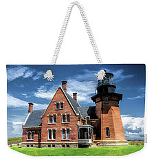 Weekender Tote Bag featuring the painting Block Island Southeast Lighthouse by Christopher Arndt