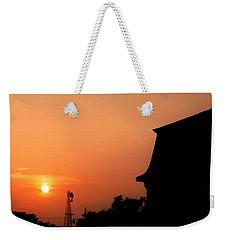 Block Island Sunset Weekender Tote Bag