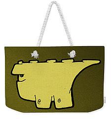 Blockasaurus Weekender Tote Bag by Uncle J's Monsters