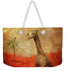 Weekender Tote Bag featuring the digital art Block's Great Adventure by Lois Bryan