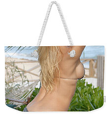 Blonde Beach Babe Weekender Tote Bag