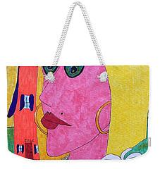 Blonde W/pearl Necklace Weekender Tote Bag