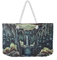 Weekender Tote Bag featuring the painting Blood Moon by Cheryl Pettigrew