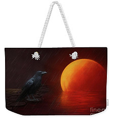 Blood Moon Crow Weekender Tote Bag