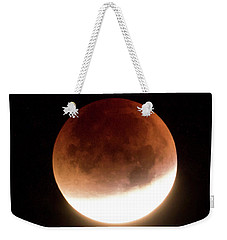 Blood Moon Eclipse Weekender Tote Bag by Wim Lanclus