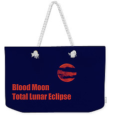 Weekender Tote Bag featuring the photograph Blood Moon - Total Lunar Eclipse by James BO Insogna