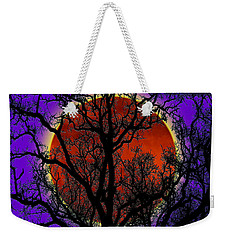 Weekender Tote Bag featuring the photograph Blood Moon Trees by Barbara Tristan