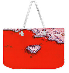 Blood Red Heart Reef Weekender Tote Bag by Az Jackson