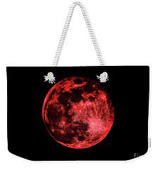 Blood Red Moonscape 3644b Weekender Tote Bag