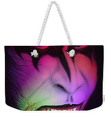 Weekender Tote Bag featuring the painting Bloody Demon by Kevin Caudill