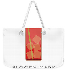 Bloody Mary Classic Cocktail - Minimalist Print Weekender Tote Bag