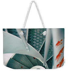 Weekender Tote Bag featuring the photograph Bloody Stairway by Carlos Caetano