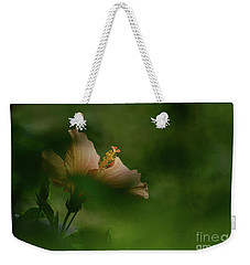 Weekender Tote Bag featuring the photograph Bloom Through The Bush by Debby Pueschel