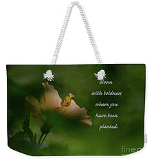 Weekender Tote Bag featuring the photograph Bloom With Boldness by Debby Pueschel