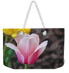Weekender Tote Bag featuring the mixed media Bloomin' by Trish Tritz