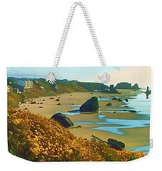 Blooming Bandon Watercolor Weekender Tote Bag