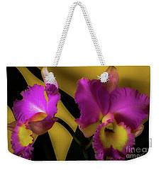 Blooming Cattleya Orchids Weekender Tote Bag