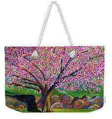 Blooming Crabapple In Evening Light Weekender Tote Bag