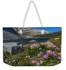 Blooming In Snowy Range Weekender Tote Bag