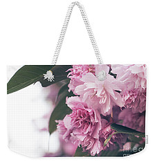 Weekender Tote Bag featuring the photograph Blooming Pink by Rebecca Davis
