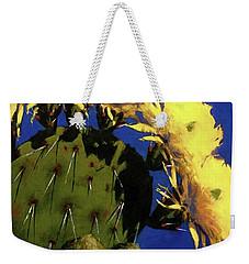 Blooming Prickly Pear Weekender Tote Bag