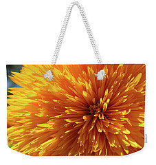 Weekender Tote Bag featuring the photograph Blooming Sunshine by Marie Leslie
