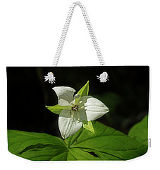Weekender Tote Bag featuring the photograph Blooming Trillium by Mike Eingle