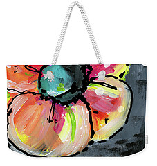 Weekender Tote Bag featuring the mixed media Blooming Wildflower- Art By Linda Woods by Linda Woods