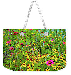 Weekender Tote Bag featuring the photograph Blooming Wildflowers by D Davila