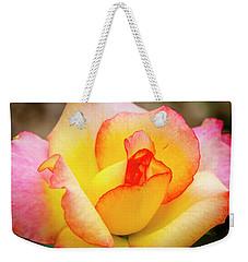Blooming Yellow And Pink Rose Weekender Tote Bag