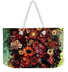 Blooms And Black Onyx Weekender Tote Bag