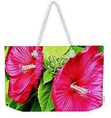 Weekender Tote Bag featuring the photograph Blooms And Buds by Marsha Heiken