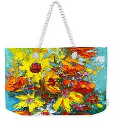 Colorful Wildflowers, Abstract Floral Art  Weekender Tote Bag