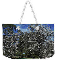 Weekender Tote Bag featuring the photograph Blossom Bomb by Mark Blauhoefer