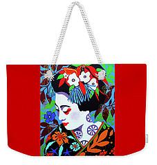 Blossom Weekender Tote Bag by Debbie Chamberlin