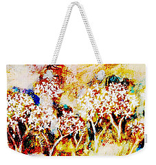 Weekender Tote Bag featuring the painting Blossom Morning by Winsome Gunning