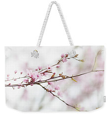 Weekender Tote Bag featuring the photograph Blossom Pink by Rebecca Cozart