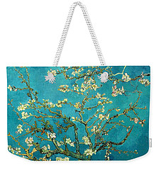 Weekender Tote Bag featuring the painting Blossoming Almond Tree by Van Gogh